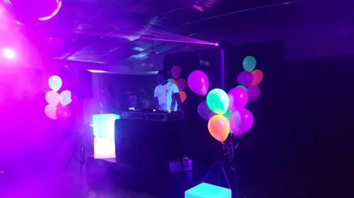Professional DJ party for fluro, neon glowing party in Darwin