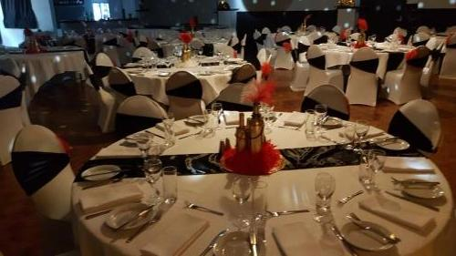 Gatsby Party at Darwin professional dinning table setup