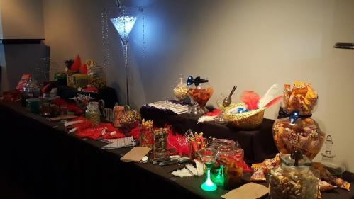 Gatsby Party at Darwin candy bar center table